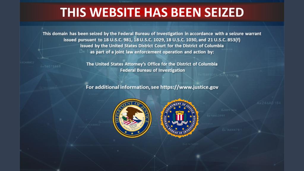 United States Seizure Banner