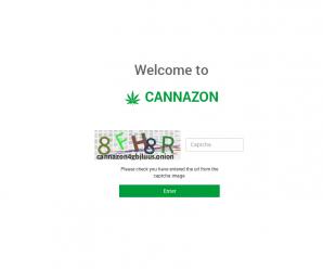 Cannazon Market Captcha