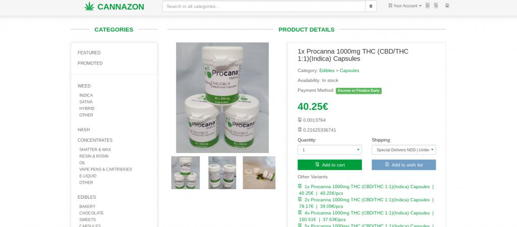 Cannazon Market Product