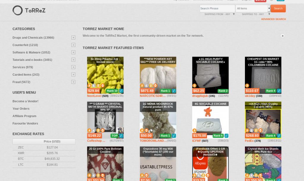 Torrez Market Home Page