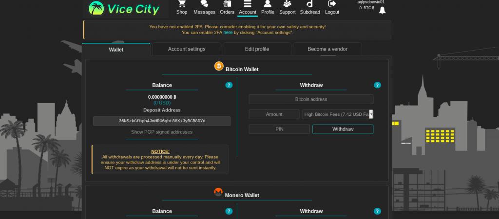 Vice City Market Account